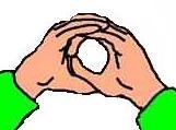 Mains collées formant un cercle